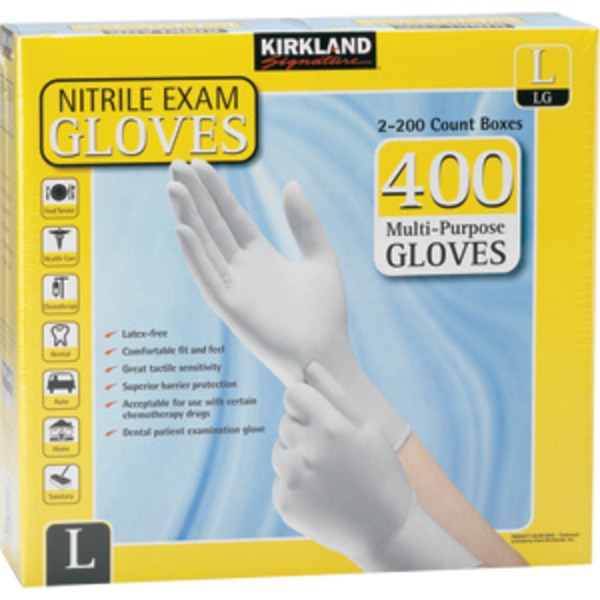 Kirkland Signature Large Nitrile Exam Gloves