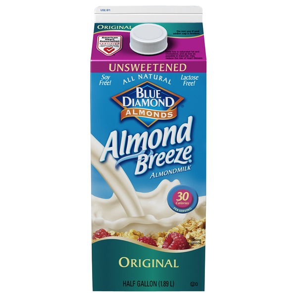 Almond Breeze Unsweetened Original Almondmilk Non Dairy Milk Alternative