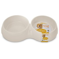 Luvo Large White Double Round Base Bowl