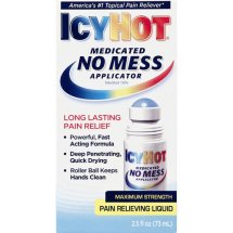 Icy Hot Medicated No Mess Applicator Pain Relieving Liquid, 2.5 Oz