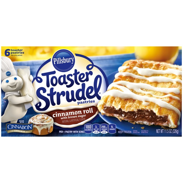 Pillsbury Toaster Strudel Cinnamon Roll Toaster Pastries