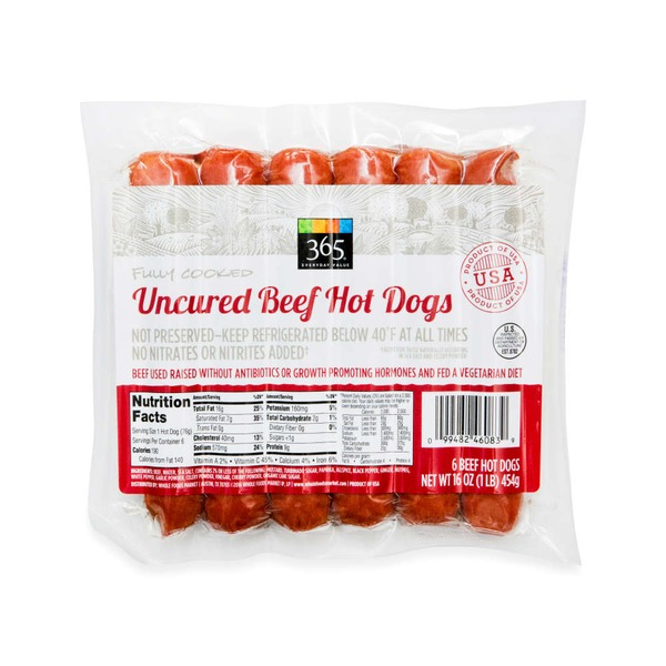365 Uncured Beef Hot Dogs