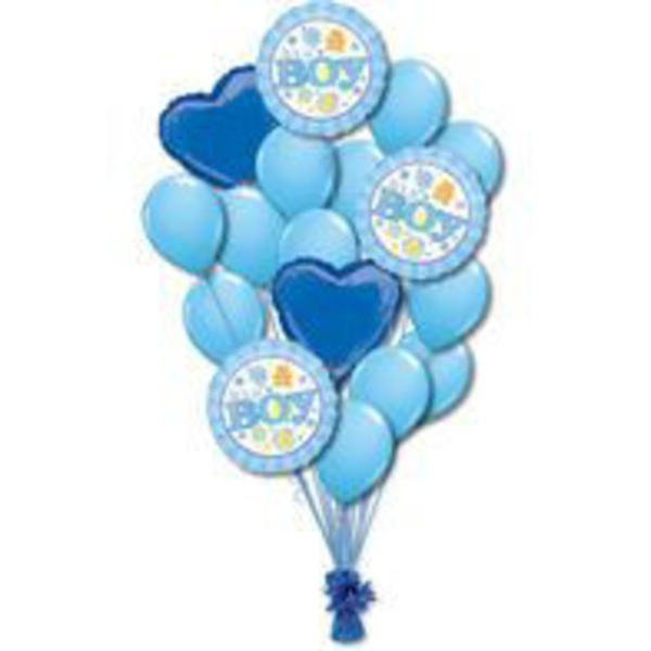 Baby Boy Large Balloon Bouquet