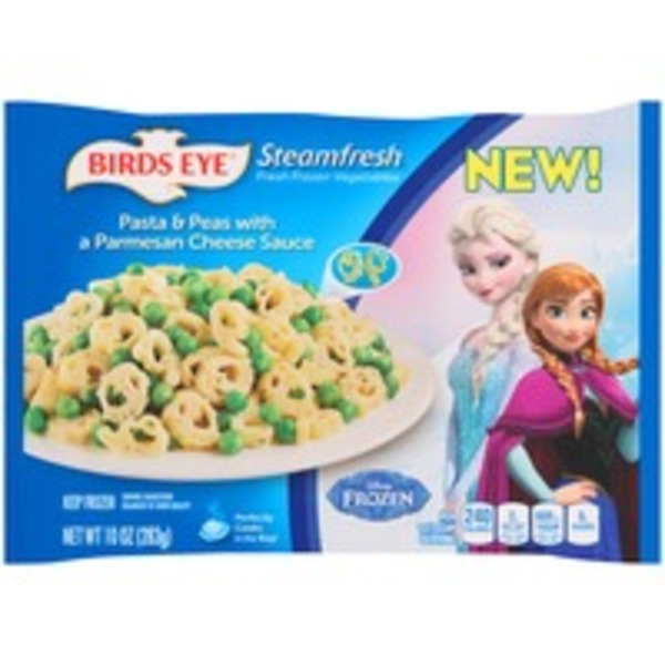 Steamfresh Disney Frozen Pasta & Peas with a Parmesan Cheese Sauce Entree
