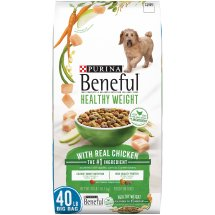 Purina Beneful Healthy Weight with Real Chicken Dry Dog Food, 40 Lb