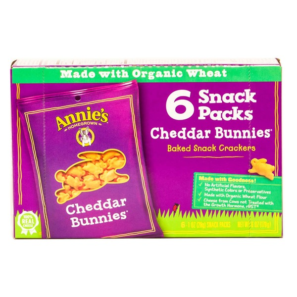 Annie's Homegrown Cheddar Bunny Snack Packs Cheddar Bunnies
