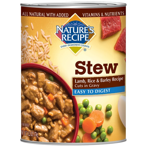 Nature's Recipe Easy to Digest Lamb Rice & Barley Recipe Cuts in Gravy Dog Food