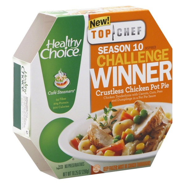 Healthy Choice Top Chef Crustless Chicken Pot Pie Cafe Steamers