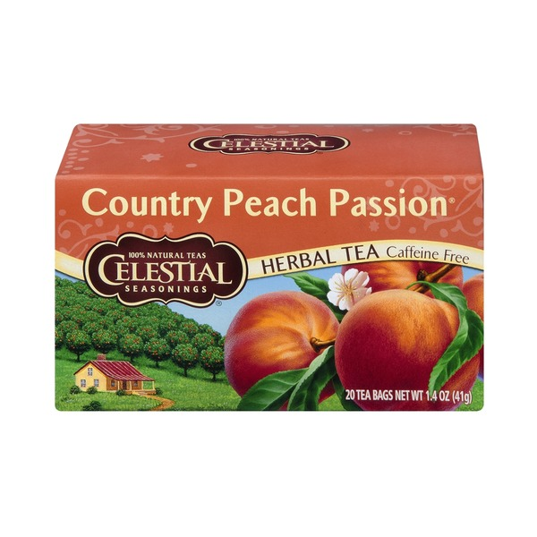 Celestial Seasonings Country Peach Passion Caffeine Free Herbal Tea - 20 CT