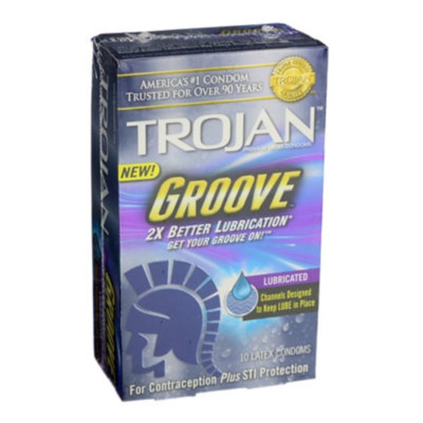 Trojan Groove Premium Latex Condoms