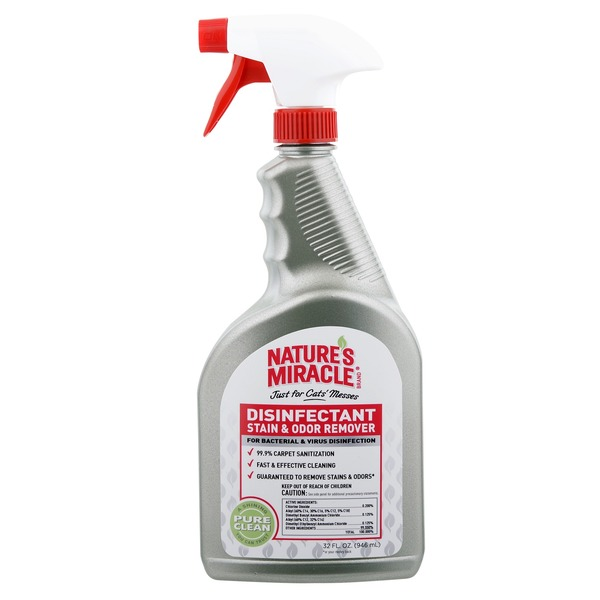 Nature's Miracle Cat Messes Disinfectant Stain & Odor Remover Spray 32 Oz.