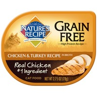 Nature's Recipe Grain Free Chicken & Turkey Recipe in Broth Cat Food