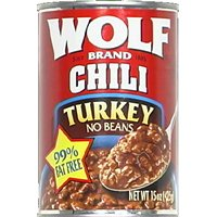 Wolf Brand Plain Turkey Chili