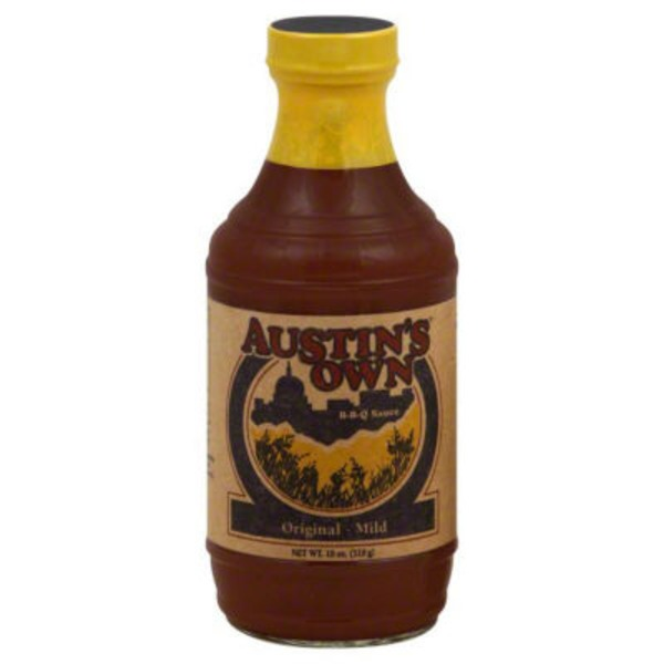 Austins Own Sauce, BBQ, Original, Mild, Bottle