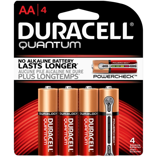 Duracell Quantum Quantum Alkaline AA Batteries 4 Count  Primary Major Cells