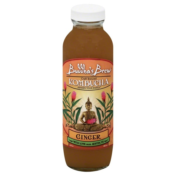 Buddha's Brew Kombucha Ginger Bottle