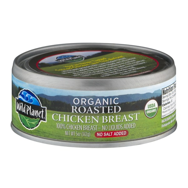 Wild Planet Organic Roasted Chicken Breast No Salt Added