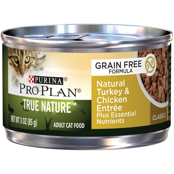 Pro Plan Cat Wet True Nature Adult Grain Free Formula Natural Turkey & Chicken Entrée Classic Cat Food