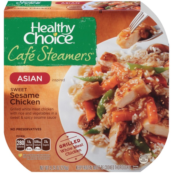Healthy Choice Asian Inspired Sweet Sesame Chicken Cafe Steamers