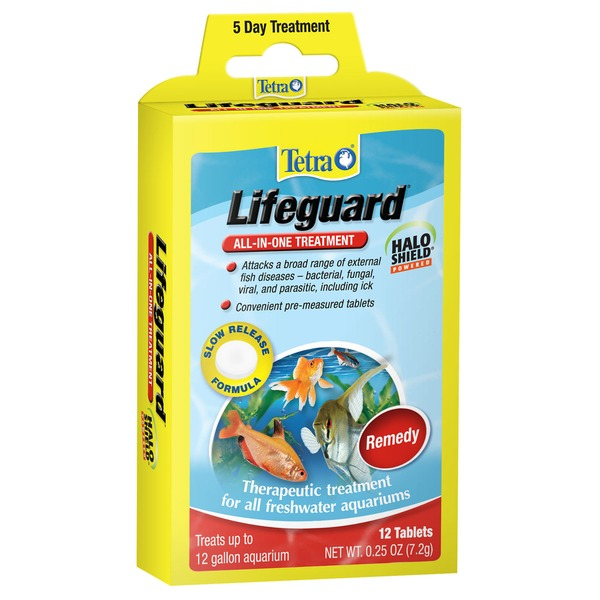 Tetra Lifeguard All In One Freshwater Aquarium Treatment Pack Of 12 Tablets