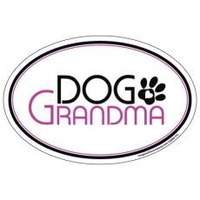 Dog Grandma Oval Car Magnet