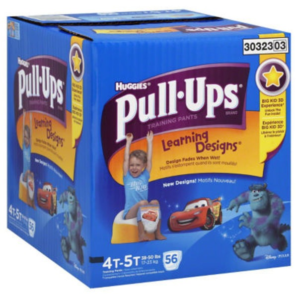 Huggies Pull-Ups Training Pants Learning Designs 4T-5T - 56 CT
