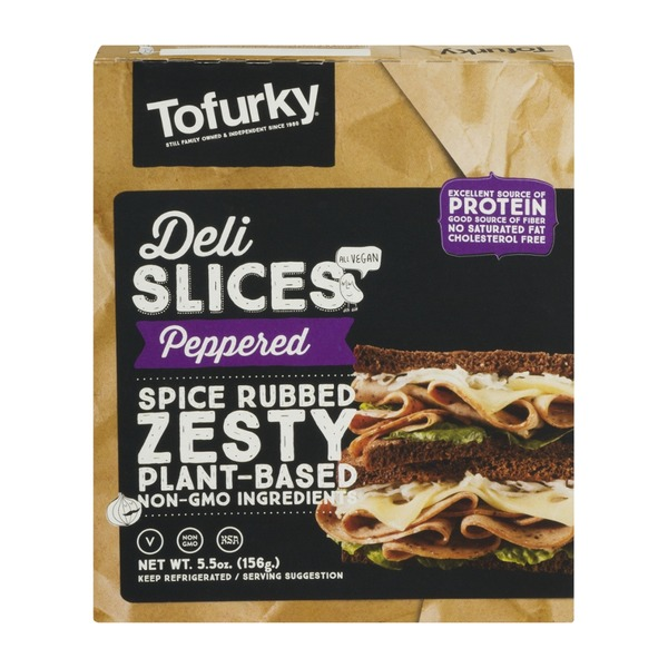 Turtle Island Foods Peppered Tofurky Deli Slices