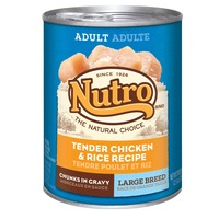 Nutro Adult Large Breed Chunks in Gravy Tender Chicken & Rice Recipe Dog Food