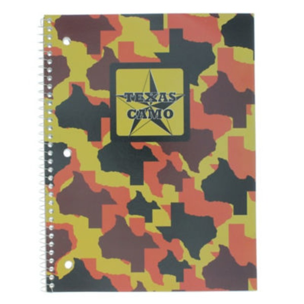 Norcom Wide Ruled Camo Theme Book Assorted Colors