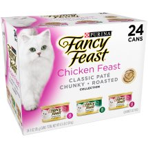 Purina Fancy Feast Chicken Feast Collection Cat Food 24-3 oz. Cans