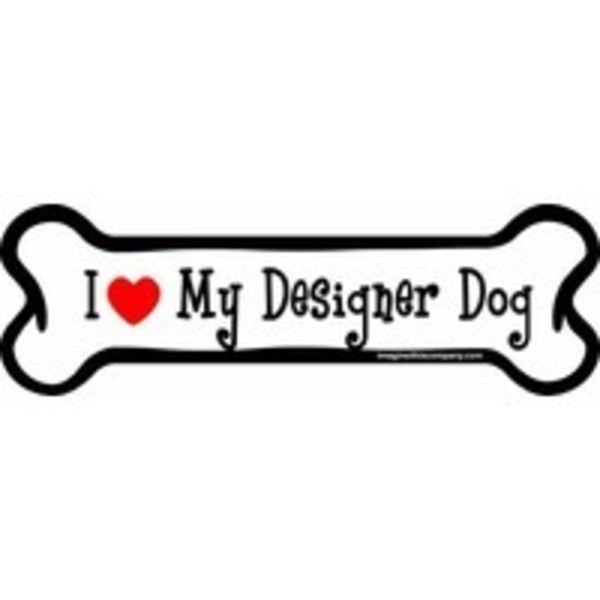 Designer Dog Bone Car Magnet