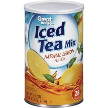 Great Value Iced Tea Drink Mix, Natural Lemon, 70.5 oz