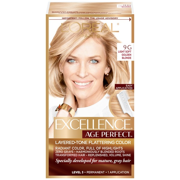 Excellence Age Perfect 9G Light Soft Golden Blonde Layered-Tone Flattering Color