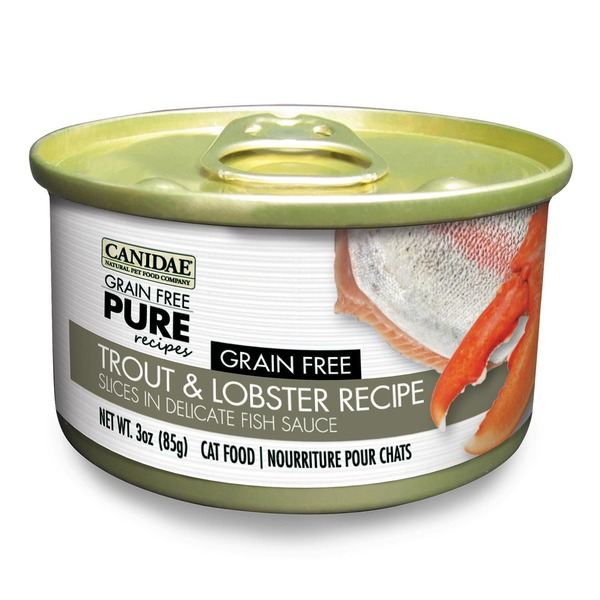Canidae Grain Free Pure Recipes Trout & Lobster Canned Cat Food 3 Oz.