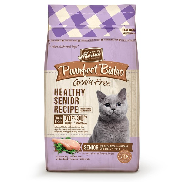 Merrick Purrfect Bistro Grain Free Healthy Senior Cat Food 7 Lbs.