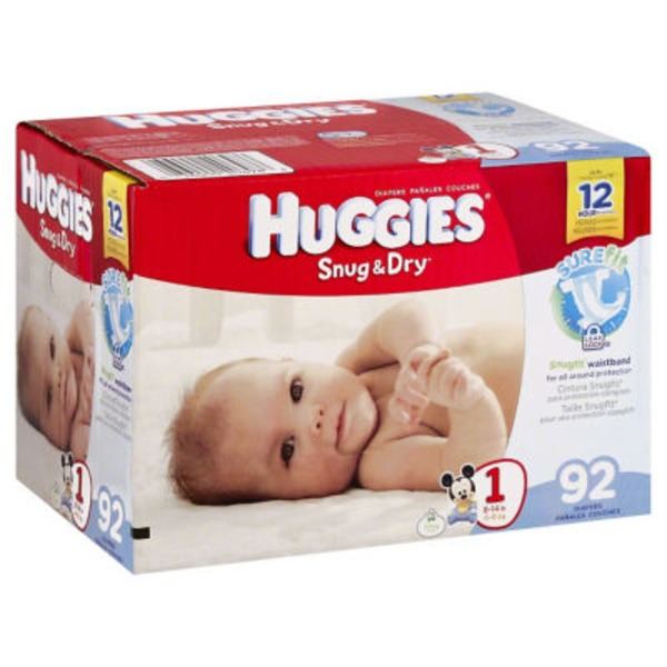 Huggies Snug & Dry Size 1 Diapers