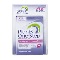 Plan B One-Step 1.5mg Emergency Contraceptive
