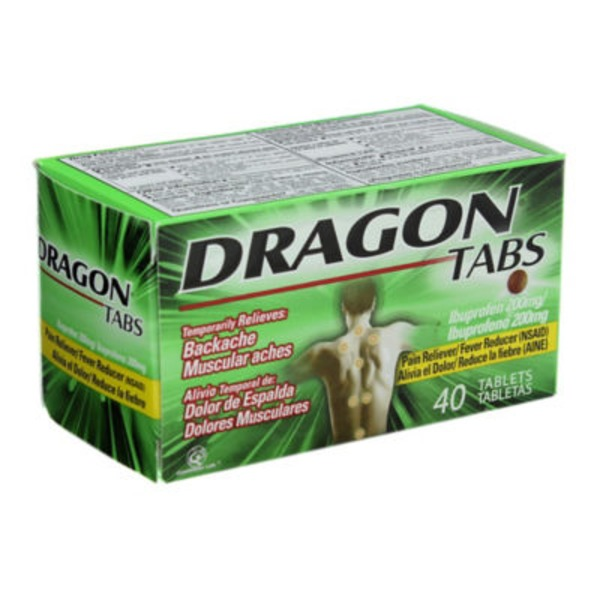 Pomada Dragon Dragon Tabs Ibuprofen 200 Mg Pain Reliever Tablets