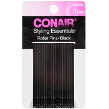 Conair Styling Essentials Roller Pins, Black, 18 count