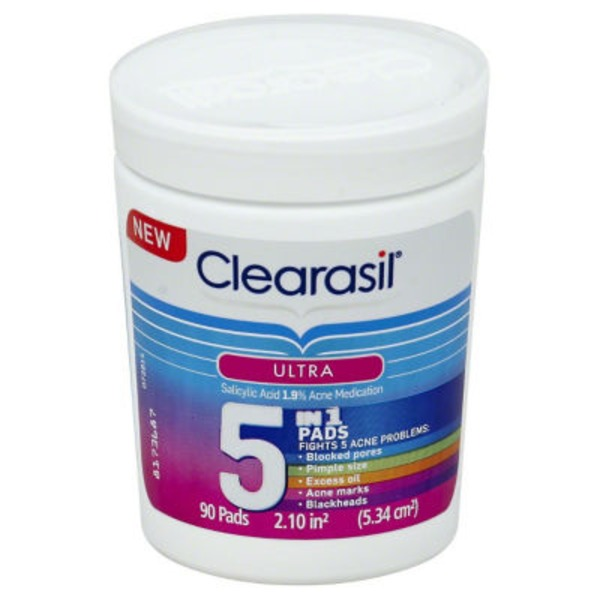 Clearasil Ultra 5-in-1 Pads Acne Medication