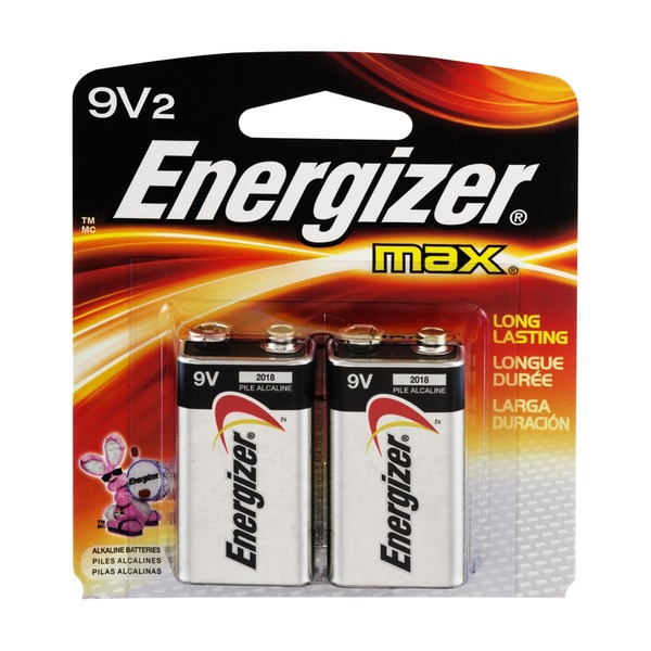 Energizer Max 9V Batteries - 2 CT