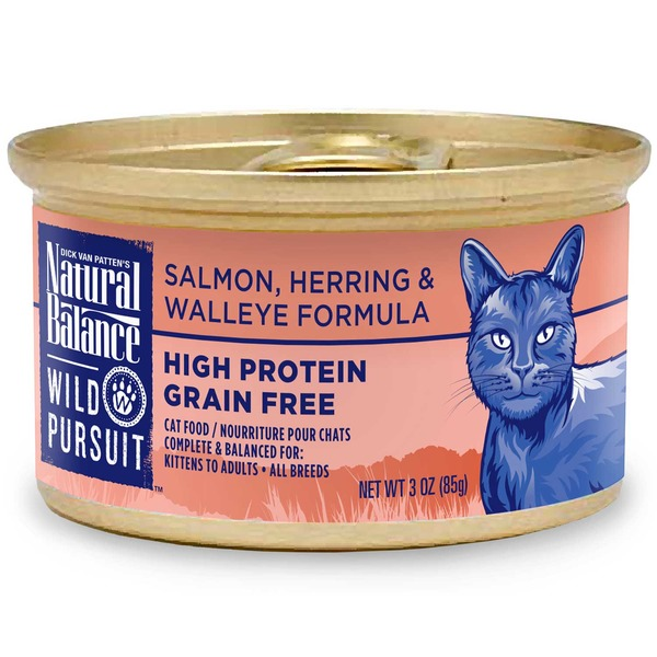 Natural Balance Wild Pursuit High Protein Salmon, Herring & Walleye Formula Cat Food