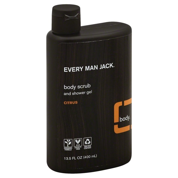 Every Man Jack Body Scrub, and Shower Gel, Citrus