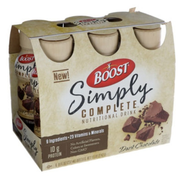 Boost Simply Complete Dark Chocolate Nutritional Drink