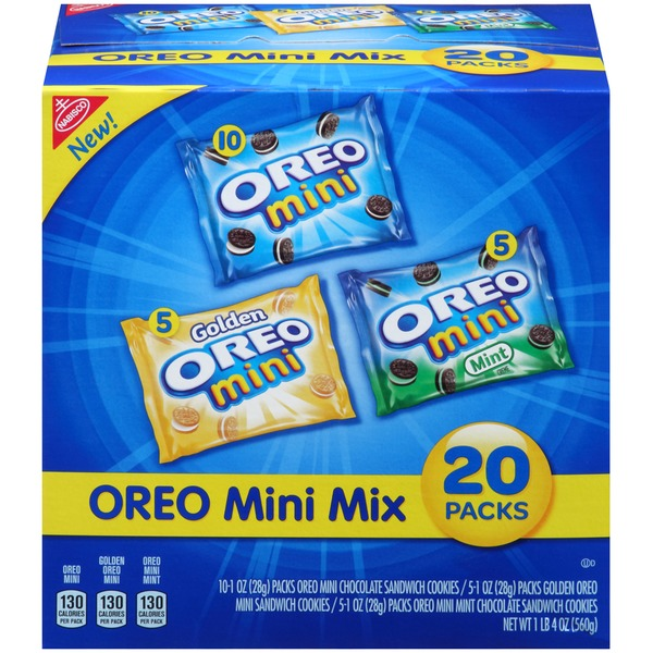 Nabisco Oreo Mini Mix Variety Pack Sandwich Cookies
