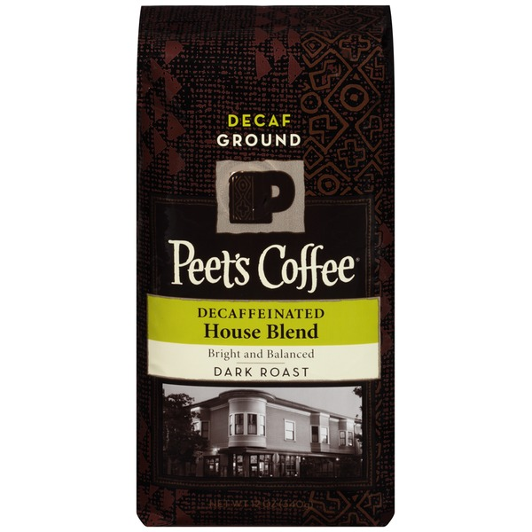 Peet's Coffee & Tea Decaffeinated House Blend Dark Roast Ground Coffee