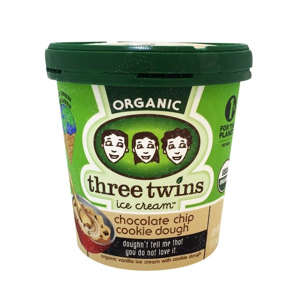Three Twins Organic Chocolate Chip Cookie Dough Ice Cream