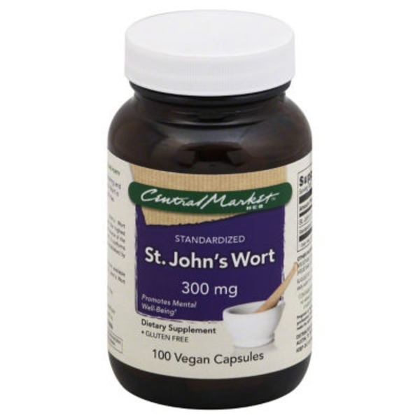 Central Market St. Johns Wort 300 Mg Vegan Capsules