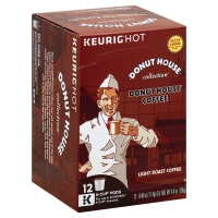Donut House Collection Keurig Hot Coffee K-Cup Pods Light Roast Donut House - 12