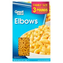 Great Value Elbows, Family Size, 3 lb